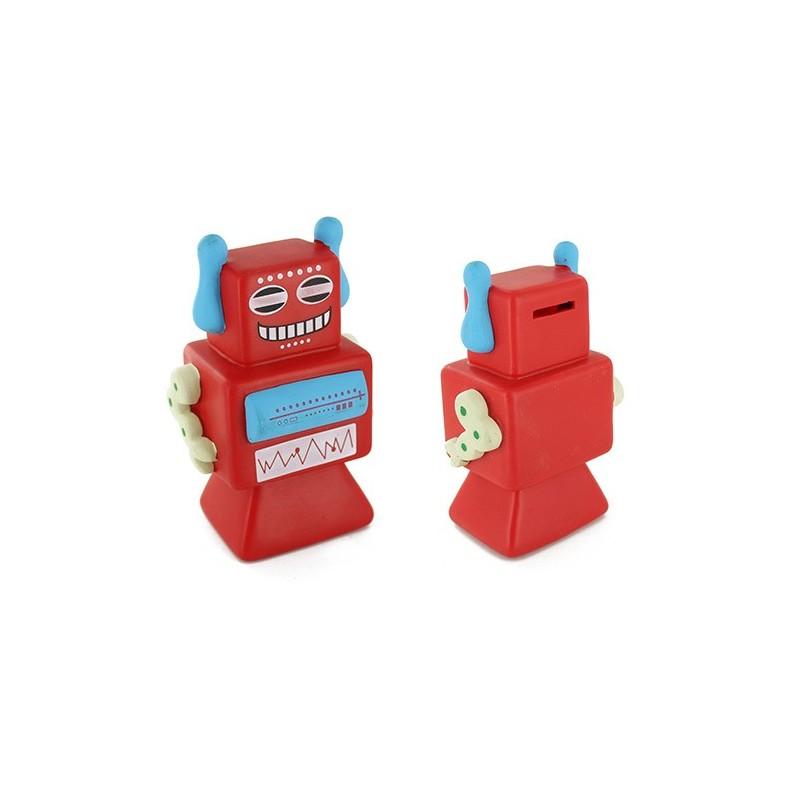 Alcancia Robots Rojo
