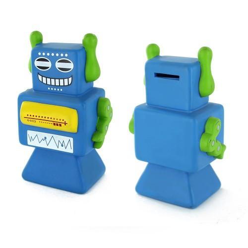 Alcancía Robots Azul